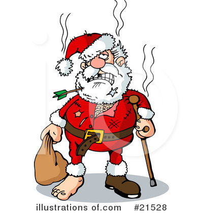 Royalty-Free (RF) Santa Clipart Illustration by Holger Bogen - Stock Sample #21528