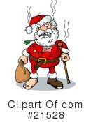 Royalty-Free (RF) santa Clipart Illustration #21528