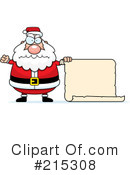 Royalty-Free (RF) Santa Clipart Illustration #215308