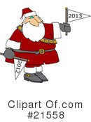 Royalty-Free (RF) Santa Clipart Illustration #21558