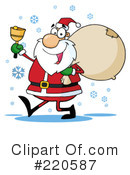 Royalty-Free (RF) santa Clipart Illustration #220587