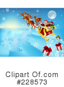 Royalty-Free (RF) Santa Clipart Illustration #228573