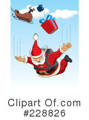 Royalty-Free (RF) Santa Clipart Illustration #228826