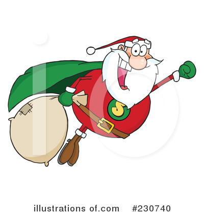 Santa Clipart #230740 by Hit Toon