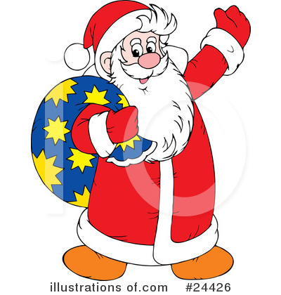 Royalty-Free (RF) Santa Clipart Illustration by Alex Bannykh - Stock Sample #24426
