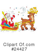 Royalty-Free (RF) Santa Clipart Illustration #24427