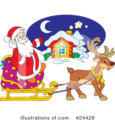 Royalty-Free (RF) Santa Clipart Illustration by Alex Bannykh - Stock Sample #24428