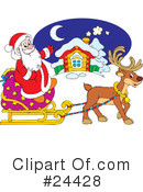 Royalty-Free (RF) Santa Clipart Illustration #24428