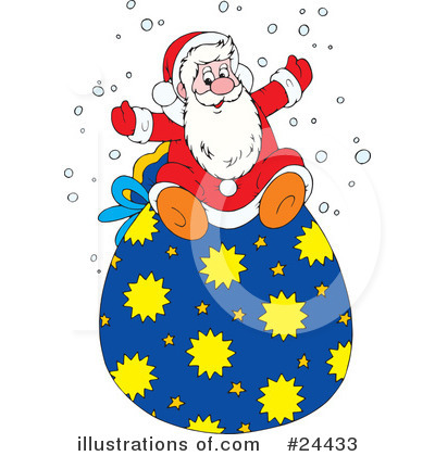 Royalty-Free (RF) Santa Clipart Illustration by Alex Bannykh - Stock Sample #24433