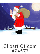 Royalty-Free (RF) Santa Clipart Illustration #24573
