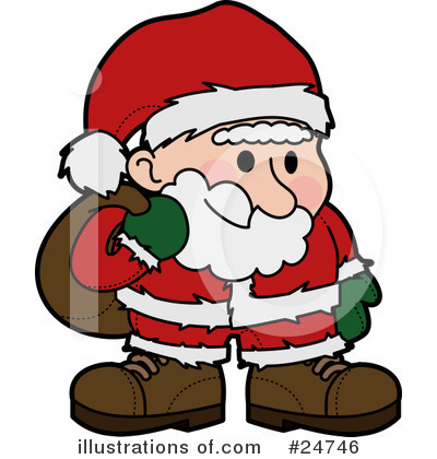 Royalty-Free (RF) Santa Clipart Illustration by Geo Images - Stock Sample #24746