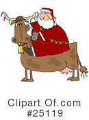 Royalty-Free (RF) Santa Clipart Illustration #25119