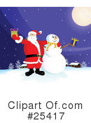 Royalty-Free (RF) Santa Clipart Illustration #25417