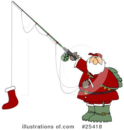 Royalty-Free (RF) Santa Clipart Illustration by Dennis Cox - Stock Sample #25418