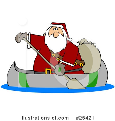 Royalty-Free (RF) Santa Clipart Illustration by Dennis Cox - Stock Sample #25421