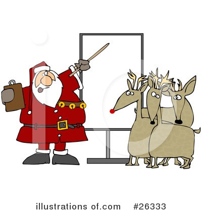 Royalty-Free (RF) Santa Clipart Illustration by Dennis Cox - Stock Sample #26333