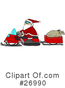 Royalty-Free (RF) Santa Clipart Illustration #26990