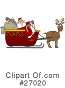 Royalty-Free (RF) Santa Clipart Illustration #27020