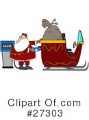Royalty-Free (RF) Santa Clipart Illustration #27303