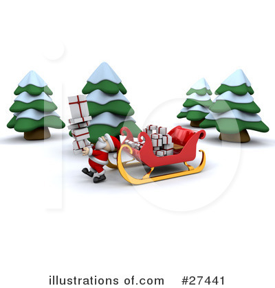 Royalty-Free (RF) Santa Clipart Illustration by KJ Pargeter - Stock Sample #27441