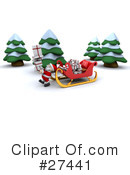Royalty-Free (RF) Santa Clipart Illustration #27441