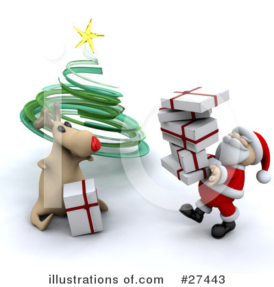Royalty-Free (RF) Santa Clipart Illustration by KJ Pargeter - Stock Sample #27443