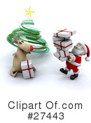 Royalty-Free (RF) Santa Clipart Illustration #27443