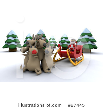 Royalty-Free (RF) Santa Clipart Illustration by KJ Pargeter - Stock Sample #27445