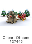 Royalty-Free (RF) Santa Clipart Illustration #27445