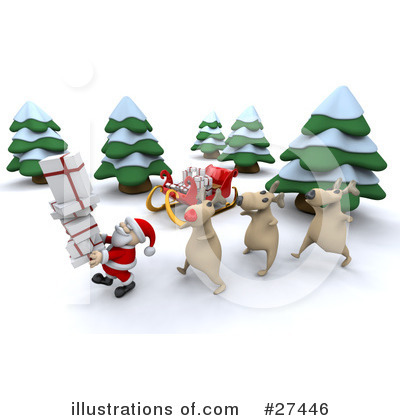 Royalty-Free (RF) Santa Clipart Illustration by KJ Pargeter - Stock Sample #27446