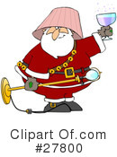 Royalty-Free (RF) Santa Clipart Illustration #27800