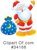 Royalty-Free (RF) Santa Clipart Illustration #34166