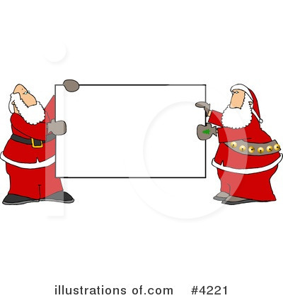 Royalty-Free (RF) Santa Clipart Illustration by Dennis Cox - Stock Sample #4221