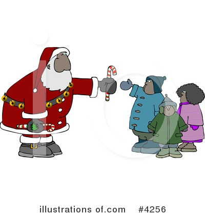 Royalty-Free (RF) Santa Clipart Illustration by Dennis Cox - Stock Sample #4256