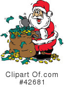 Royalty-Free (RF) santa Clipart Illustration #42681