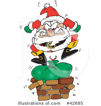 Royalty-Free (RF) Santa Clipart Illustration by Dennis Holmes Designs - Stock Sample #42685