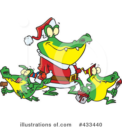 Crocodile Clipart #433440 by toonaday