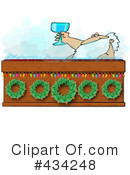 Royalty-Free (RF) santa Clipart Illustration #434248