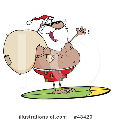 Santa Clipart #434291 by Hit Toon
