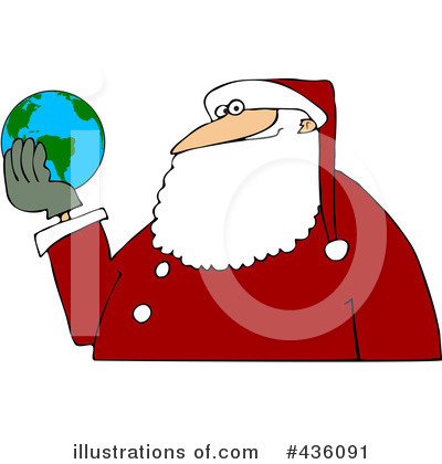 Royalty-Free (RF) Santa Clipart Illustration by djart - Stock Sample #436091