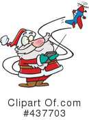 Royalty-Free (RF) Santa Clipart Illustration #437703