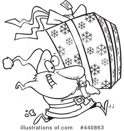 Royalty-Free (RF) Santa Clipart Illustration by toonaday - Stock Sample #440863