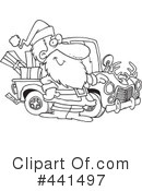 Royalty-Free (RF) santa Clipart Illustration #441497