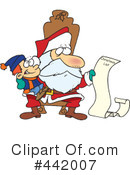 Santa Clipart #442007 by toonaday