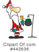 Royalty-Free (RF) santa Clipart Illustration #443636