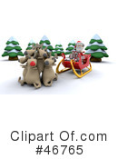 Royalty-Free (RF) Santa Clipart Illustration #46765