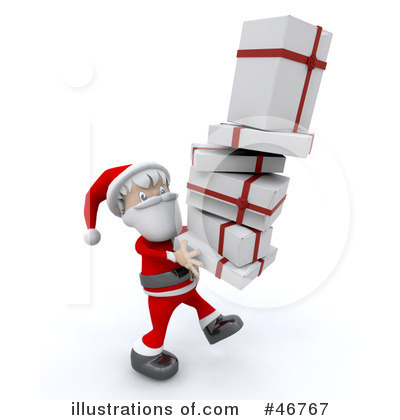 Christmas Gift Clipart #46767 by KJ Pargeter