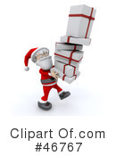 Royalty-Free (RF) Santa Clipart Illustration #46767