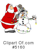 Royalty-Free (RF) Santa Clipart Illustration #5160