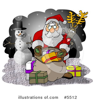 Royalty-Free (RF) Santa Clipart Illustration by Dennis Cox - Stock Sample #5512